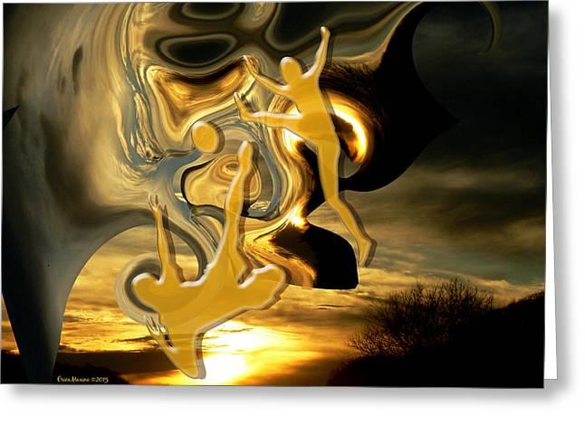 Tn Greeting Cards - Kicking The Sunset Greeting Card by EricaMaxine  Price
