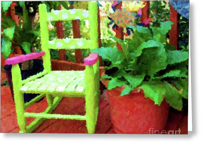 Rocking Chairs Greeting Cards - Kid Rock Greeting Card by Debbi Granruth