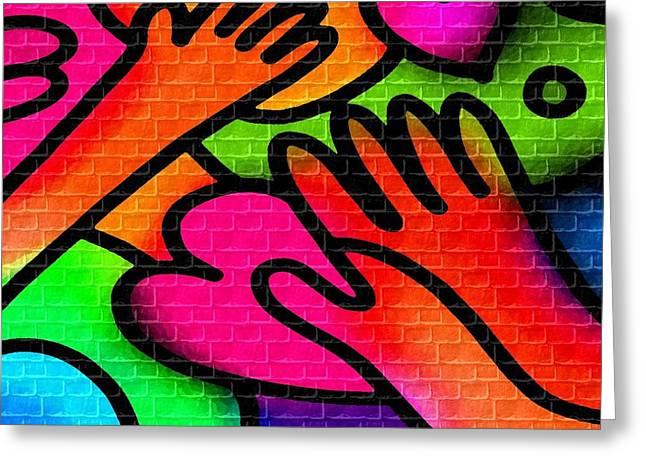 Abstract Digital Pastels Greeting Cards - Kiddies Room no. 4 H b Greeting Card by Gert J Rheeders