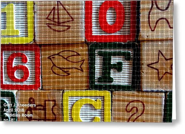 Abstract Digital Pastels Greeting Cards - Kiddies Room no. 5 H b Greeting Card by Gert J Rheeders