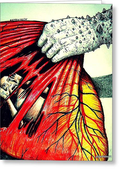 Suffering Soul Greeting Cards - Kidnapping Greeting Card by Paulo Zerbato