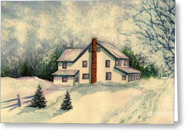 Kids Are Home Greeting Card by Janine Riley