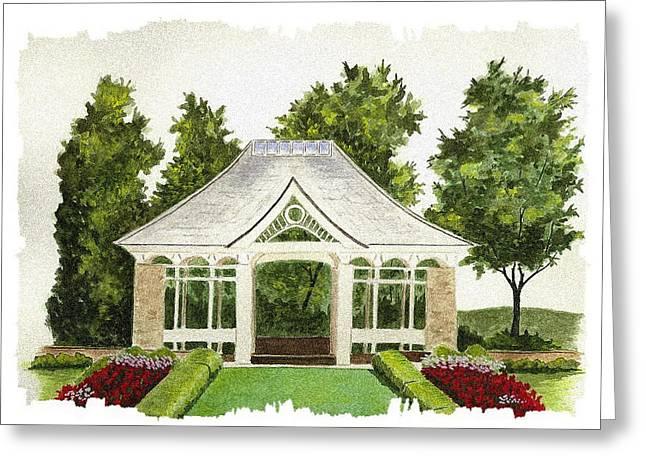 Pavilion Greeting Cards - Kidston Pavilion - Mill Creek Park Greeting Card by Michael Vigliotti