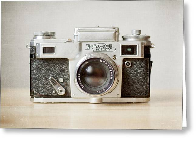 Old Camera Greeting Cards - Kiev Greeting Card by Violet Gray