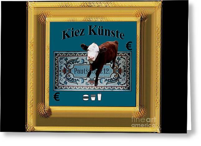 Kiez Kunste Greeting Card by Geordie Gardiner