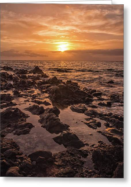 Kihei Sunset 2 - Maui Hawaii Greeting Card by Brian Harig