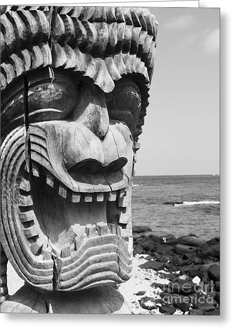 Ron Woods Greeting Cards - Kii Statue Greeting Card by Ron Dahlquist - Printscapes