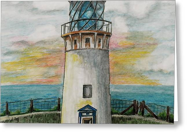 Ocean Images Greeting Cards - Kilauea Lighthouse Greeting Card by Linda Simon