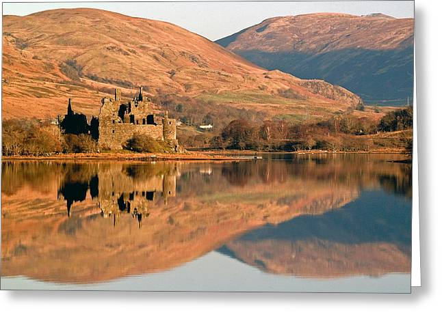 Campbell Clan Greeting Cards - Kilchurn Castle in Autumn Greeting Card by John McKinlay