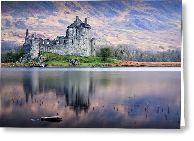 Kilchurn Castle Greeting Cards - Kilchurn Castle  Loch Awe  Argyll Greeting Card by David Mould