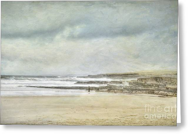 Beach Landscape Greeting Cards - Kilcummin back strand Greeting Card by Marion Galt