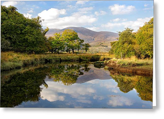 Killarney Lake Reflection Ireland Greeting Card by Pierre Leclerc Photography