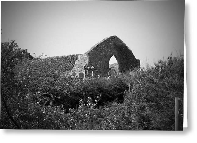 Ennistymon Greeting Card featuring the photograph Kilmanaheen Church Ruins Ennistymon Ireland by Teresa Mucha