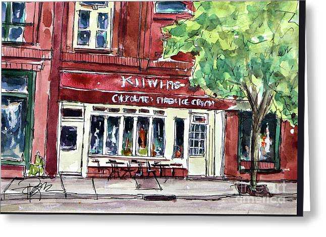 Kilwins On Main Greeting Card by Tim Ross