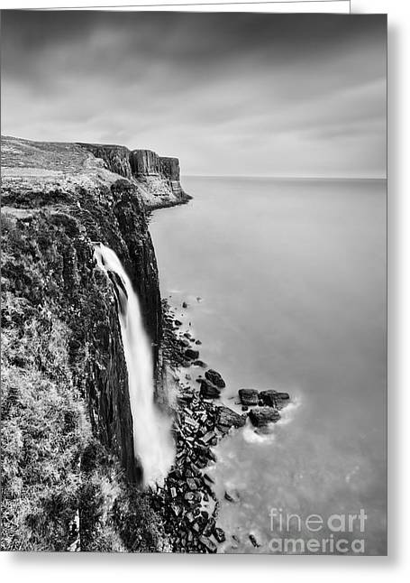 Kilt Greeting Cards - Kilt Rock Waterfall - Isle of Skye Greeting Card by Rod McLean