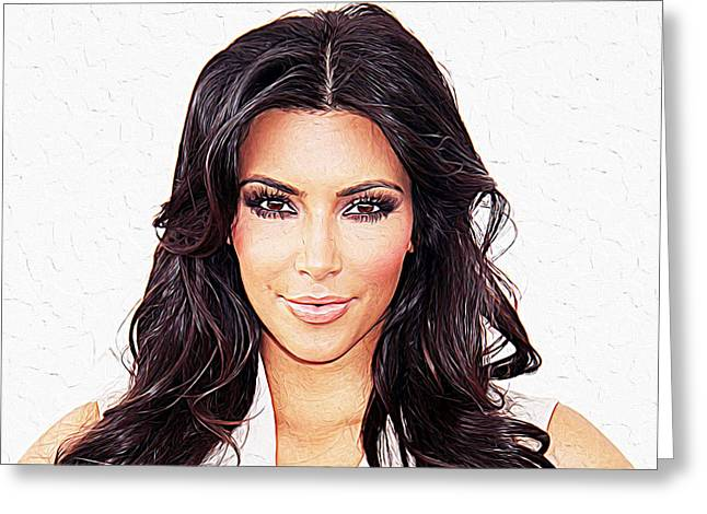 Kim Kardashian Greeting Card by Queso Espinosa