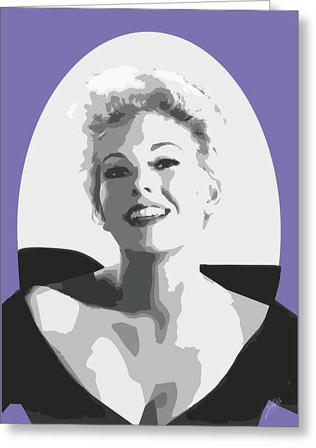 Modern Digital Art Digital Art Drawings Greeting Cards - Kim Novak Greeting Card by Joaquin Abella