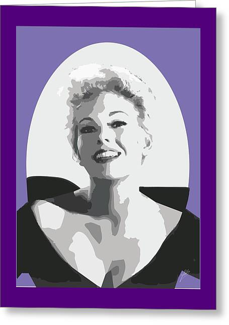 Kim Novak Greeting Cards - Kim Novak Greeting Card by Quim Abella