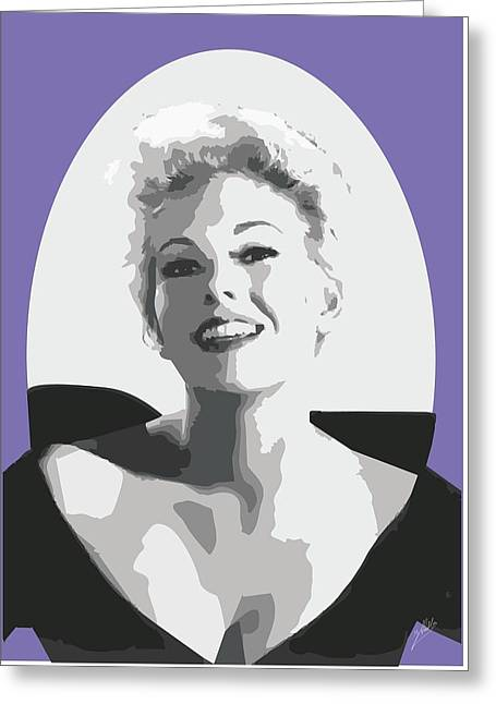 Kim Drawings Greeting Cards - Kim Novak Greeting Card by Joaquin Abella