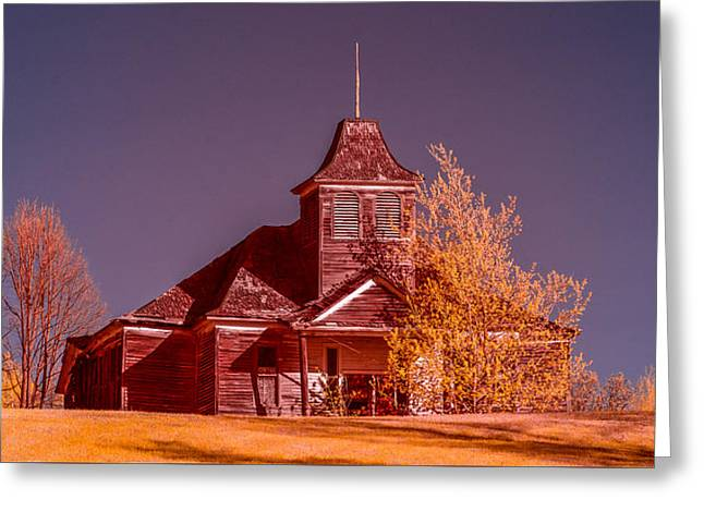 Kimberly School House Infrared False Color Greeting Card by Paul Freidlund