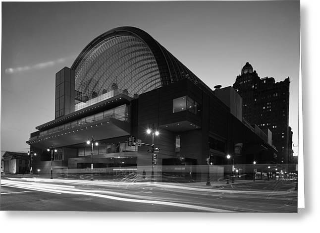 Kimmel Center Concert Hall At Dusk Greeting Card by Mountain Dreams