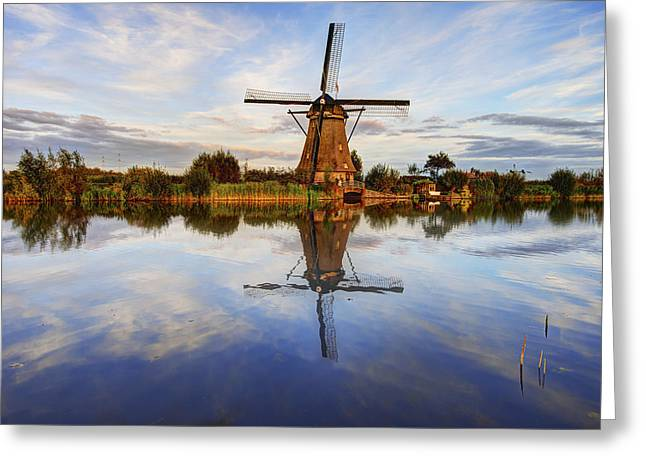 Holland Greeting Cards - Kinderdijk Greeting Card by Chad Dutson