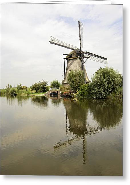 Historic Site Greeting Cards - Kinderdijk No. 10 Greeting Card by Phyllis Taylor