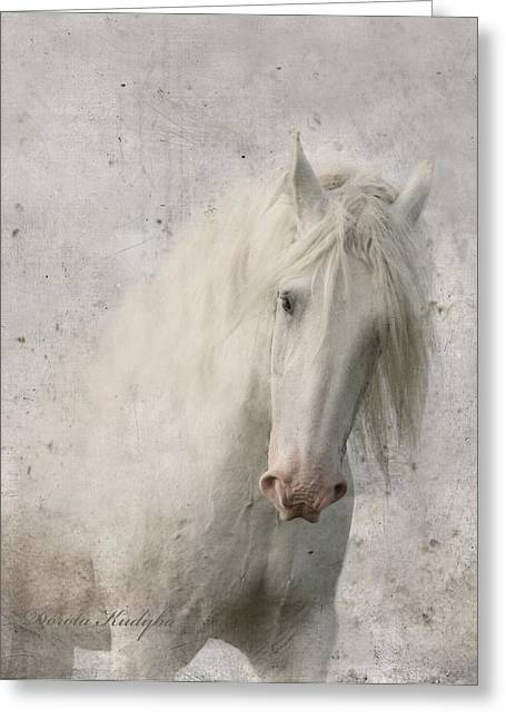 Gray Horse Greeting Cards - Kindness Greeting Card by Dorota Kudyba