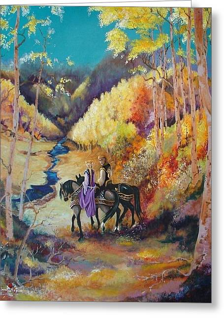 Camelot Greeting Cards - King and Queen Greeting Card by Diane Rose Medlin