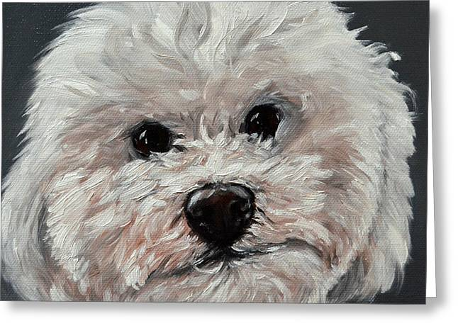 Custom Commissioned Pet Portrait From Photos Greeting Cards - King Cavalier and Toy poodle Mix Greeting Card by Sun Sohovich