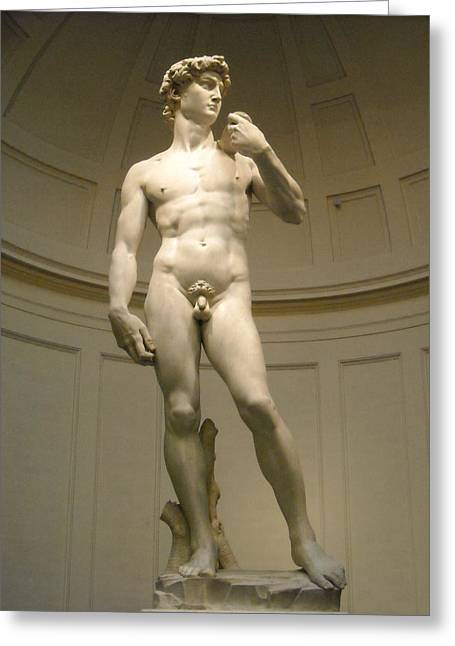 Michelangelo Greeting Cards - King David Greeting Card by Andrea Colombel