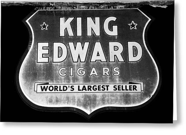 King Edward Cigars Greeting Card by David Lee Thompson