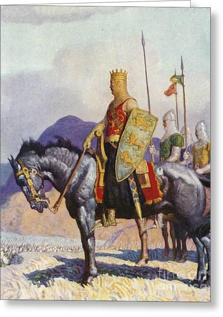 King Edward Greeting Card by Newell Convers Wyeth