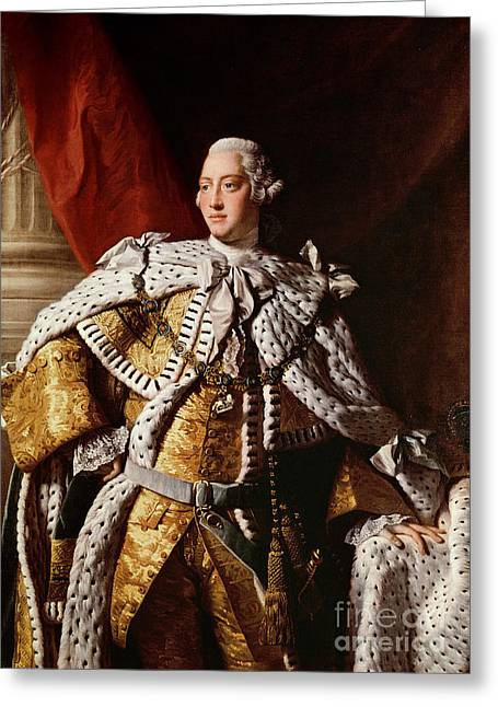 Mental Greeting Cards - King George III Greeting Card by Allan Ramsay