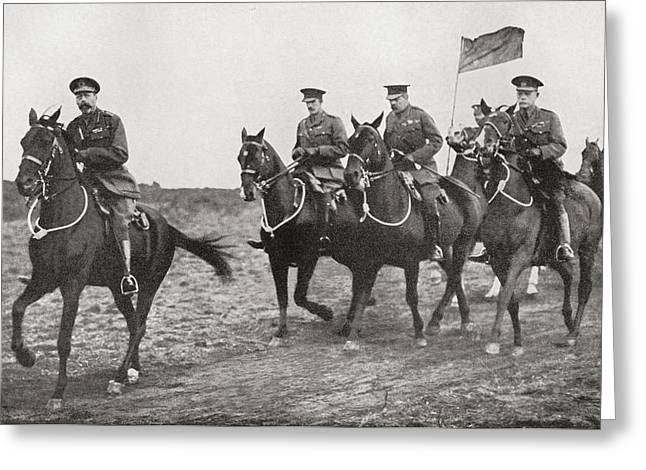 Wwi Greeting Cards - King George V And Lord Kitchener Greeting Card by Ken Welsh