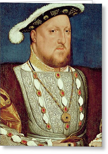 King Henry Viii  Greeting Card by Hans Holbein