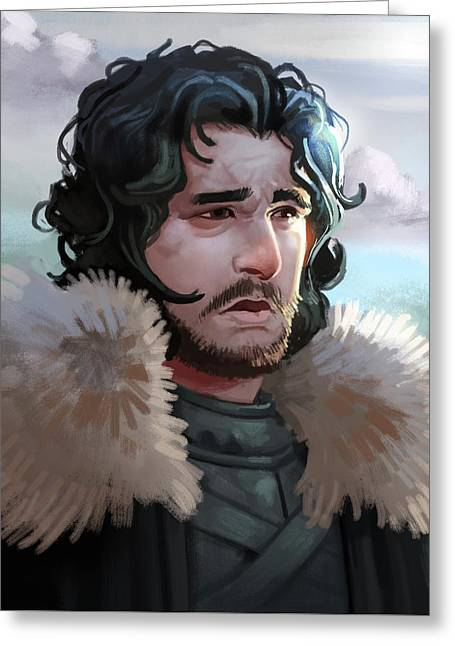 King In The North Greeting Card by Michael Myers