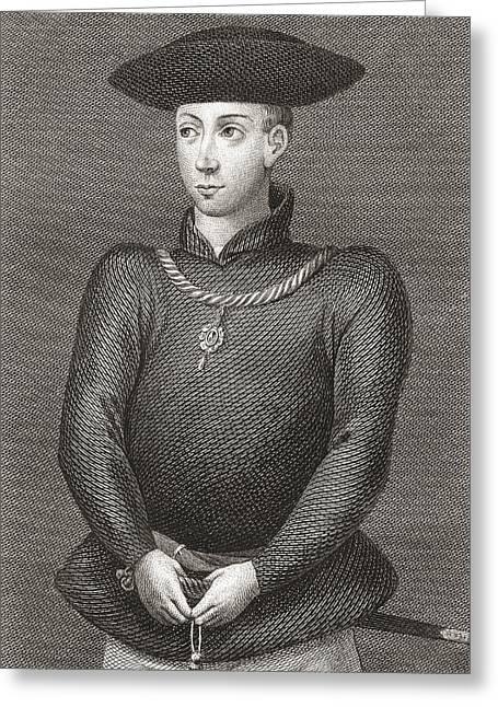 King James Greeting Cards - King James Ii Of Scotland, 1430-1460 Greeting Card by Ken Welsh