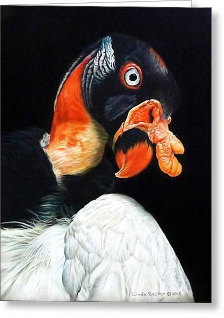 Wildlife Pastels Greeting Cards - King Juan Greeting Card by Linda Becker