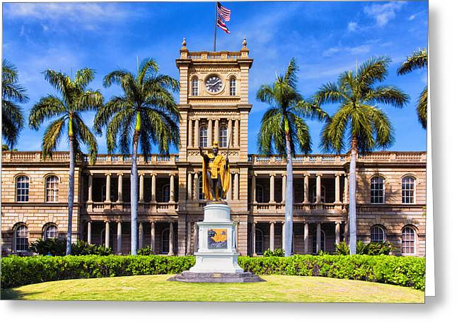 Kamehameha Greeting Cards - King Kamehameha Greeting Card by Bill Tiepelman