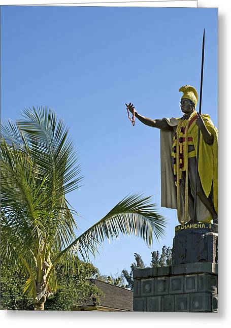 Kamehameha Greeting Cards - King Kamehameha Statue Hawaii Greeting Card by Brendan Reals