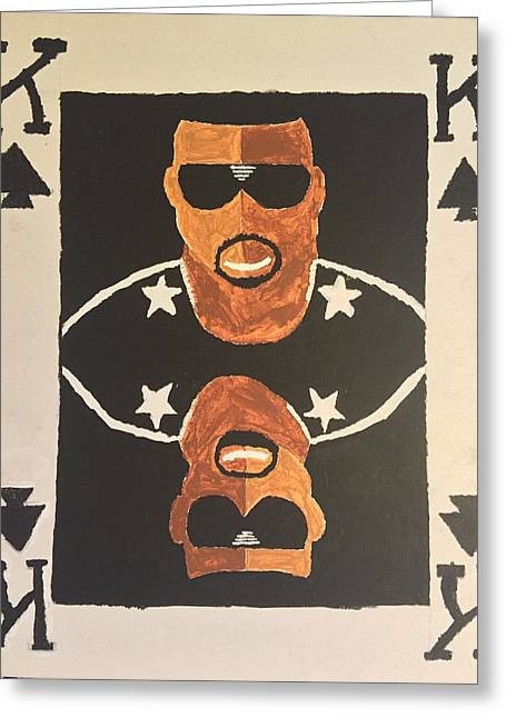 Kanye West Paintings Greeting Cards - King of Kanye Greeting Card by Cameron Bales