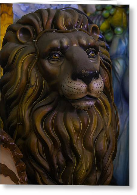 Mardi Gras Greeting Cards - King Of The Beasts Greeting Card by Garry Gay