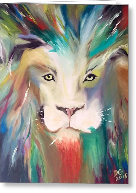 Recently Sold -  - Lions Greeting Cards - King of the jungle  Greeting Card by Dianne Gallagher