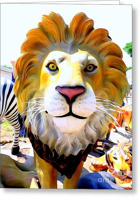 The Tiger Greeting Cards - King Of The Jungle Greeting Card by Ed Weidman