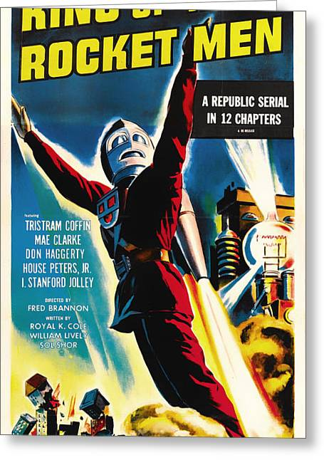 1949 Movies Greeting Cards - King Of The Rocket Men 1949 Greeting Card by Mountain Dreams