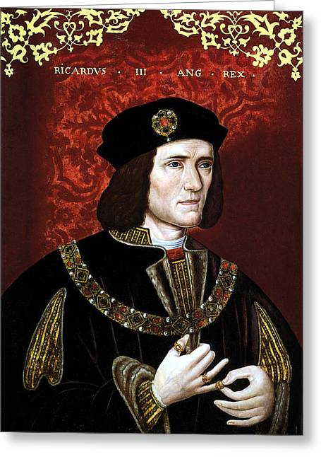 British Royalty Greeting Cards - King Richard III of England Greeting Card by War Is Hell Store