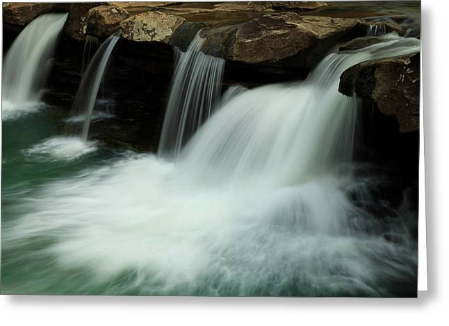 Arkansas Greeting Cards - King River Falls in Spring Greeting Card by Iris Greenwell
