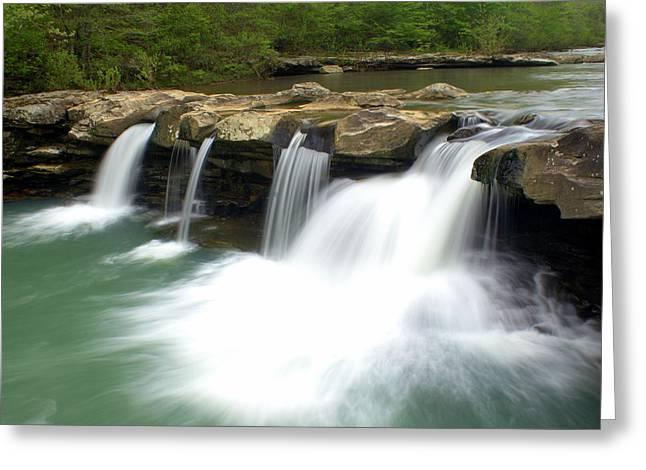 King River Falls Greeting Card by Marty Koch