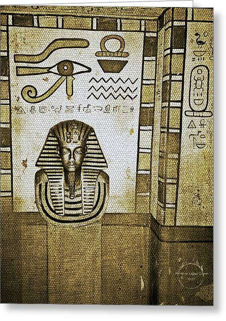 King Tut - Egyptian Dynasty Greeting Card by Absinthe Art By Michelle LeAnn Scott